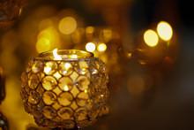 Defocused Decorative Light Can...