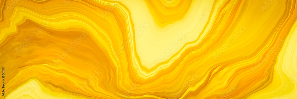 Fototapeta Marble ink colorful. yellow marble pattern texture abstract background. can be used for background or wallpaper