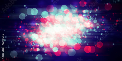 white bokeh blur background / Circle light on purple background / abstract light Canvas Print