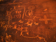 Ancient Cave Drawings In The Valley Of Fire State Park, Nevada