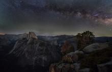 Milky Way Over Half Dome, Yose...