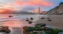 Golden Gate Bridge Sunset, San...