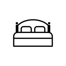Double Bed Icon Vector Logo
