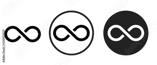 infinite icon . web icon set .vector illustration Poster Mural XXL