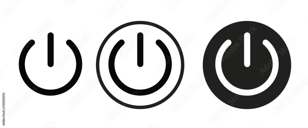 Fototapeta power icon . web icon set .vector illustration