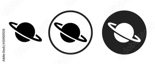 planet icon . web icon set .vector illustration Canvas Print