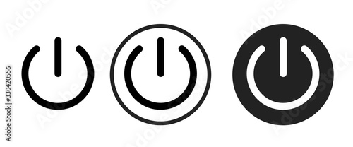 Fotomural power icon . web icon set .vector illustration