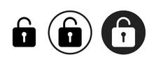 Unlock Icon . Web Icon Set .ve...