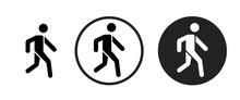 Walk Icon . Web Icon Set .vect...