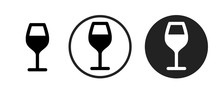 Wine Icon . Web Icon Set .vect...