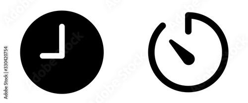 time timer icon . web icon set .vector illustration Fototapete