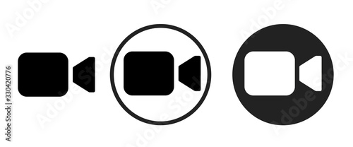 Obraz video camera icon . web icon set .vector illustration - fototapety do salonu