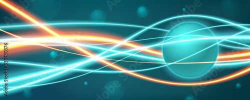 Quantum field and quantum entanglement background concept Wallpaper Mural