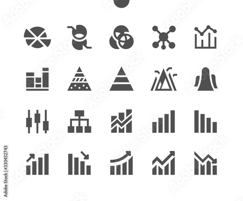 Obraz Charts v2 UI Pixel Perfect Well-crafted Vector Solid Icons 48x48 Ready for 24x24 Grid for Web Graphics and Apps. Simple Minimal Pictogram - fototapety do salonu