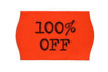 100 OFF Percent Sale Red Price...