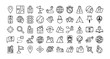 bundle of map line icons