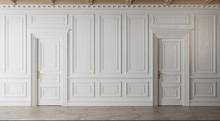 White Empty Room. Classic Inte...