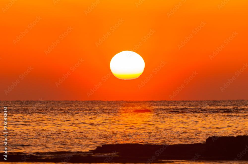 Fototapeta 紀州白浜の夕陽