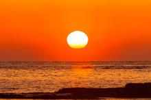 紀州白浜の夕陽