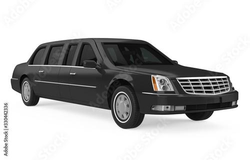 Obraz Luxury Limousine Car Isolated - fototapety do salonu