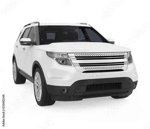 Obraz SUV Car Isolated - fototapety do salonu