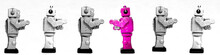 Pink Robot Facing The Other Way