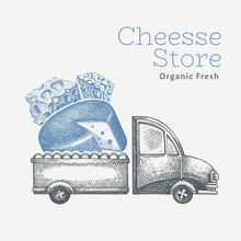 Cheese Shop Delivery Logo Temp...