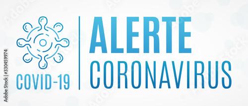 Alerte Coronavirus COVID-19 Canvas Print