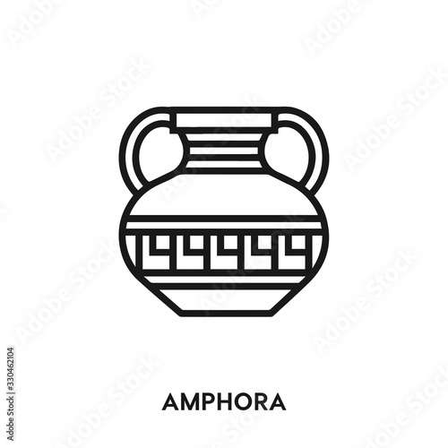 amphora vector line icon Wallpaper Mural
