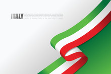 Italian Flag Vector Background...