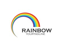 Rainbow Logo Icon Vector Templ...