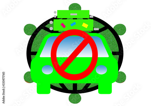 Photo Prohibido viajar para evitar contagio del covid-19.