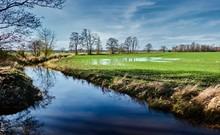 Moorland Drainage Ditch Surrou...