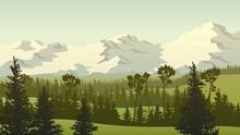 Horizontal Landscape Illustrat...