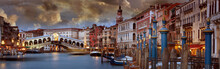 Grand Canal And Rialto Bridge,...