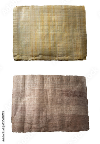Photo Light and dark papyrus on an isolated background
