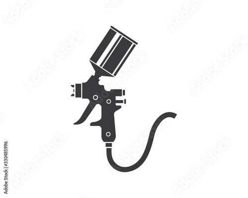 spray gun paint logo icon vector illustration Canvas Print