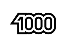 Number 1000 Vector Icon Design