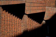 Vintage Brick Facade In Bilbao