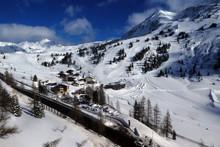 Blick Vom Achenrainbahn Lift Auf Obertauern
