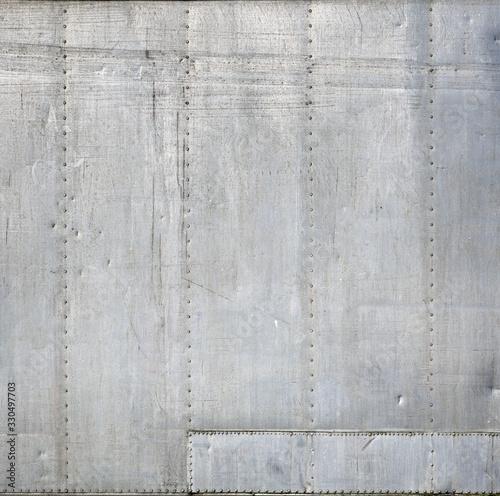 Fototapeta Aluminium mit Grunge-Metallstruktur