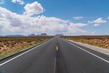 Endless Straight Road In Ameri...