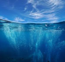 Seascape, Air Bubbles Underwat...