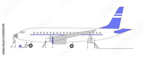 Obraz na plátně Aircraft Repair Service