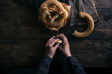 German Bread Pretzel And Bagel...