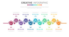 Infographic Design Template With Numbers 11 Option For Presentation Infographic, Timeline Infographics, Steps Or Processes. Vector Illustration.