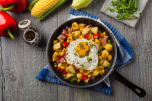 Traditional American Hash With...