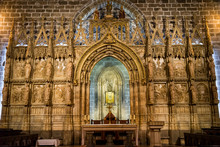 Interior Of St Vitus Cathedral Of Valencia Spain