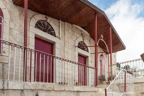 Fotomural The inside of the Greek Akeldama Monastery in the old city of Jerusalem in Israe