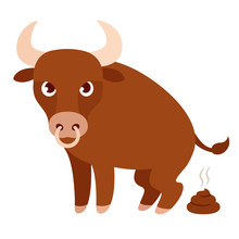 Funny Cartoon Bull Bullshit